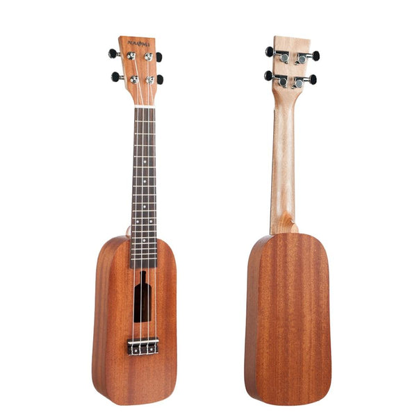 NAOMI 21/23 Inch Ukulele Bottle Design Sapele Topboard Backboard Rosewood Ukelele for Beginners