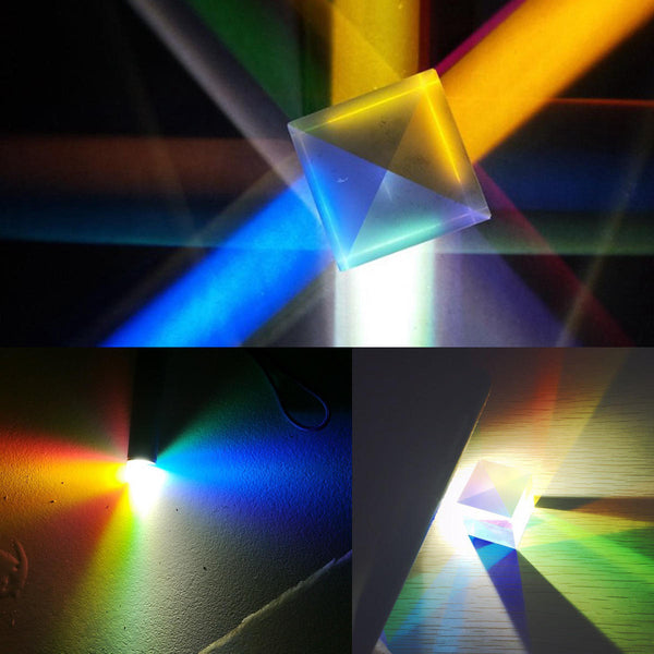 20x20mm K9 Color Combination Prism Square Cube RGB Teaching Tools Decoration