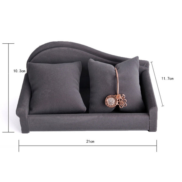 Deqi Double Pillow Sofa Pattern Watch Bracelet Desktop Display Holder Stand