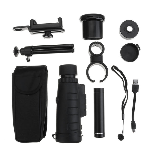 Bakeey 12X WiFi IR Night Vision APP View Monocular Telescope with Phone Holder