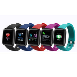 XANES A6S 1.3'' Color Screen IP67 Waterproof Smart Watch Heart Rate Blood Pressure Monitor Remote Camera Find Phone Fitness Sports  Bracelet
