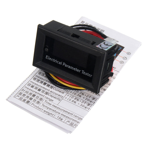 100V 10A DC Combo Meter Volt Amp Power Watt Capacity Panel Meter Monitor for Oled