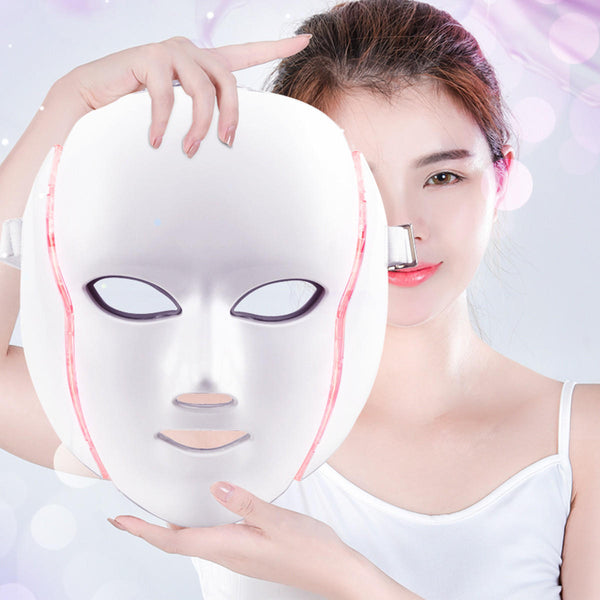 7 Colors LED Light Photon Face Neck Mask Rejuvenation Skin Therapy Skin Wrinkles