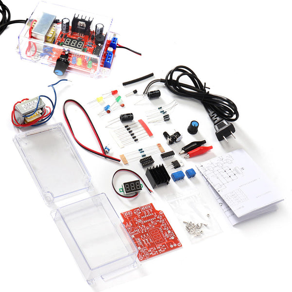 New LM317 Adjustable DC Power Supply DIY Electronic Kit Set 220V/110V To DC1.25-12V Voltmeter Soldering Training