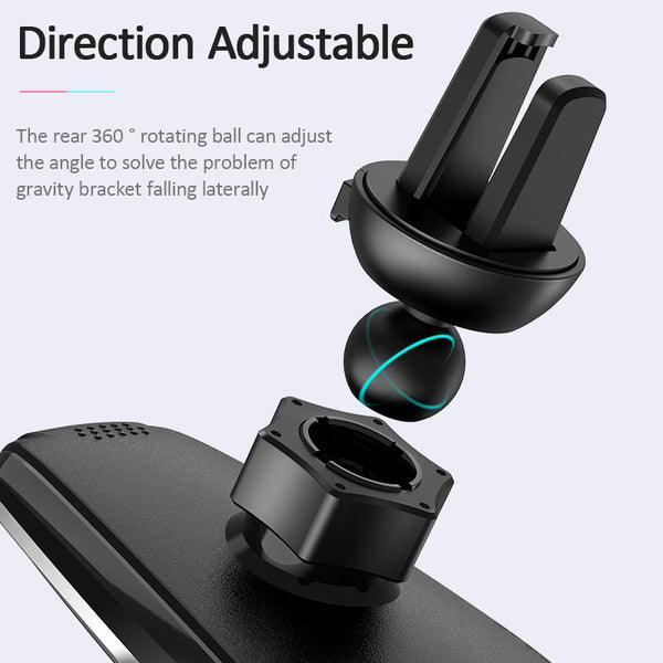 USAMS 15W Wireless Charger Infrared Sensor Air Vent Dashboard Car Phone Holder Car Mount for 4.0-6.5 Inch Qi-enabled Smart Phone for iPhone 11 for Samsung Galaxy Note 10 Xiaomi