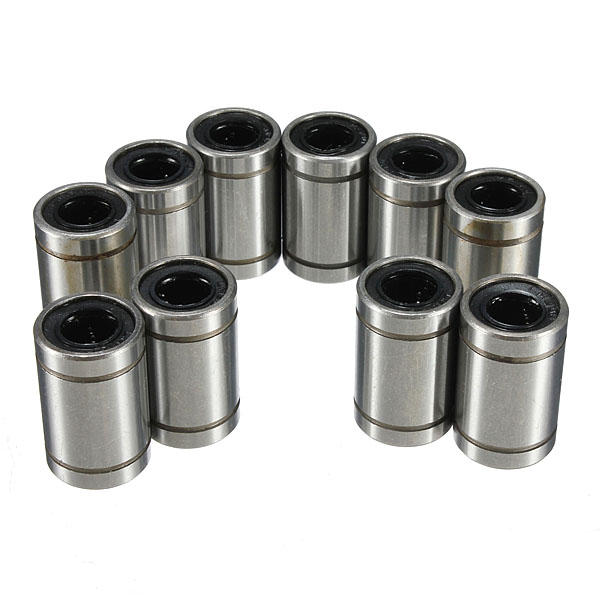 LM8UU 8mm Linear Ball Bearing Bush Steel for CNC Router Mill Machine