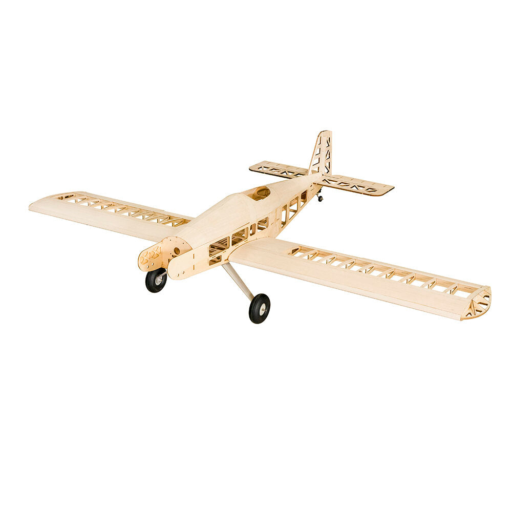 Dancing Wings Hobby T90-Tractors 2.1M Gas Powered Fixed Wing KIT 2130mm Wingspan Balsa Wood RC Trainer Airplane