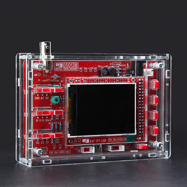 Original JYETech DSO138 DIY Digital Oscilloscope Kit 13804K Version With Acrylic Housing