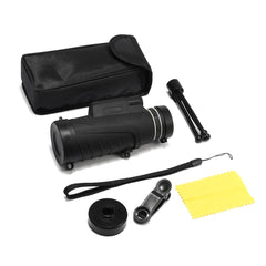 Bakeey 40X60 Monocular Telescope Waterproof Super Clear HD Night Vision with Phone Clip Tripod