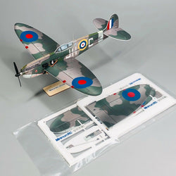 MinimumRC Spitfire 360mm Wingspan Micro 4CH Warbird RC Airplane Kit with Power System