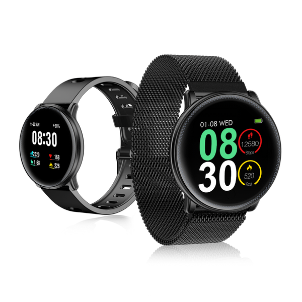 [Free Gift] UMIDIGI Uwatch2 Full Touch Screen Entire Steel Body 24h Heart Rate Sports Mode Message Smart Watch