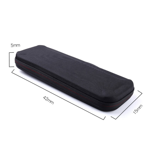 Bakeey 41*15*5.5cm Portable Oximeter Blood Glucose Meter Set Storage Box Dual Zipper Anti-slip Rubber Handle EVA Storage Bag