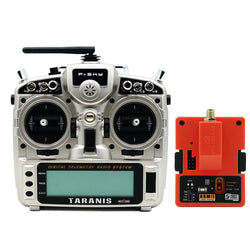 FrSky Taranis X9D Plus 2019 2.4G 24CH ACCESS ACCST D16 Mode2 FCC Version Transmitter with R9M 2019 900MHz Long Range Transmitter Module