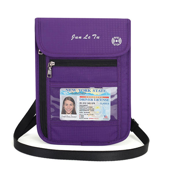 RFID Blocking Travel Passport Holder Waterproof Neck Pouch Wallet Shoulder Waist Bag