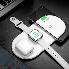 Baseus 3 in 1 18W Qi Wireless Charger Fast Wireless Charging Pad Earbuds Charger Watch Charger For iPhone 11 Xiaomi Mi 10 Huawei P40 Pro Apple Watch Series 5 4 3 2 Apple AirPods
