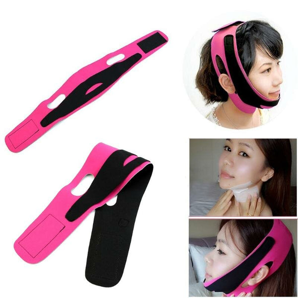 Face Slim V-Line Lift Up Belt Women Slimming Chin Cheek Slim Lift Up Mask V Face Line Belt Anti Wrinkle Strap Band Facial Beauty