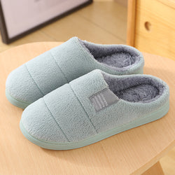 Women Fur Lining Comfy Solid Color Home Slippers