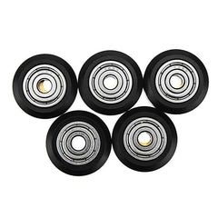TEVO 5Pcs One Pack 3D Printer Part POM Material Big Pulley Wheel with Bearings for V-slot