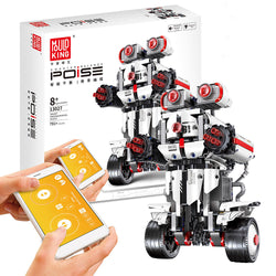 Mofun 2.4G DIY Programmable Self-Balance Block Building App Control Built-in Spenker Smart Robot Toy