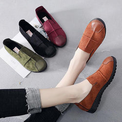 Women Casual Suede Slip On Breathable Soft Sole Loafers - EY Shopping