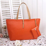 Women PU Leather Fashion Tote Casual Large Capacity Handbag - EY Shopping