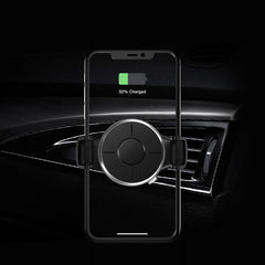 KUULAA 360 Degree 10W Qi Memory Fast Charging Wireless Car Charger Air Vent Holder Stand for iPhone 11 for Samsung S10 9 Xiaomi HUAWEI