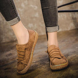 US Szie 5-11 Women Slip On Comfy Suede Flat Loafers - EY Shopping