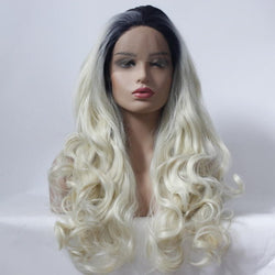Dyed Fluffy Big Wave Roll Front Lace Wig