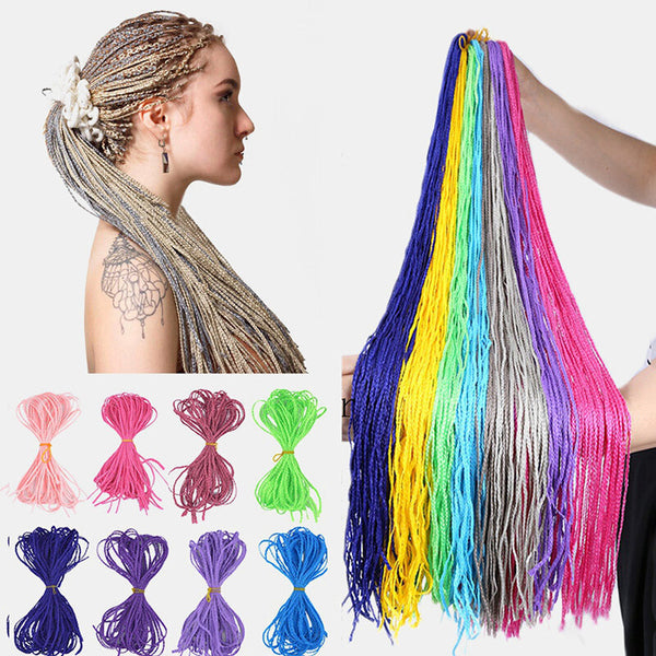 Halloween Crochet Box Braids Hair Bundles Colored Dirty Braids Ponytail Synthetic Hair Extensions