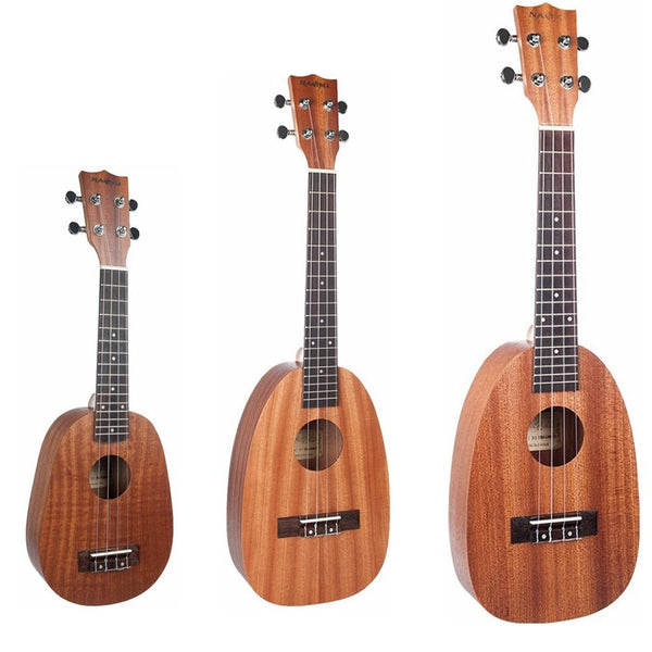 NAOMI 21/23/26 Inch 4 String Pineapple Shaped Sapele Ukulele Musical Instrument