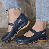 LOSTISY Women Hollow Out Breathable Comfy Hook Loop Spring Flats Casual Shoes - EY Shopping