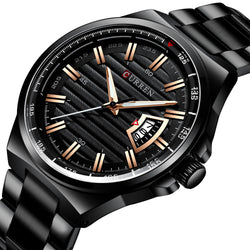 CURREN 8375 Business Style Luminous Display Men Wrist Watch Date Display Quartz Watch