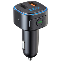 Bakeey bluetooth V5.0 FM Transmitter Dual USB QC3.0 Car Charger bluetooth Audio Adapter MP3 Player Hands-free Call For iPhone XS 11Pro Xiaomi Mi10 Redmi Note 9S