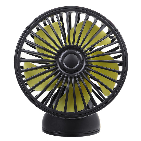 360 Rotating 12V 3 Speeds USB Cooling Fan Truck Lorry Caravan Car Suction Cup Fan