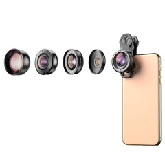 APEXEL HD 5 in 1 Camera Phone Lenses 4K Wide Macro Telescope Super Fisheye Lens for iPhonex SE Xiaomi Poco F2 Pro All Smartphone