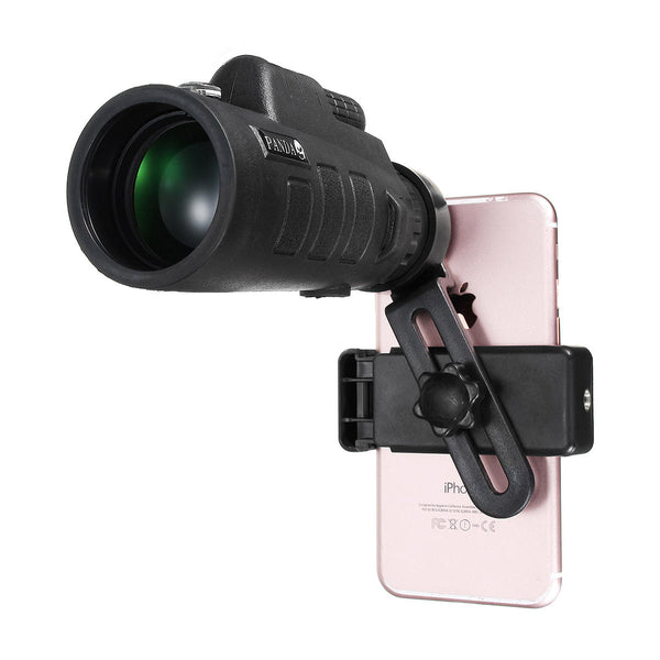 PANDA 35x50 BAK4 Camera Lens Monocular Telescope+Phone Clip Holder for Cell Phone