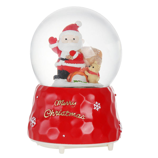 Santa Crystal Ball with Lighting Music Effects Music Box Christmas Gift Table Home Decoration