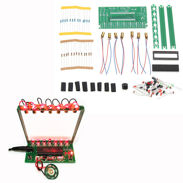 DIY Single Chip Microcomputer Laser Harp Kit Electronic Piano Music Box