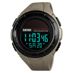SKMEI 1405 Solar Power Digital Watch Stopwatch Luminous Display Alarm Calendar Outdoor Sport Watch