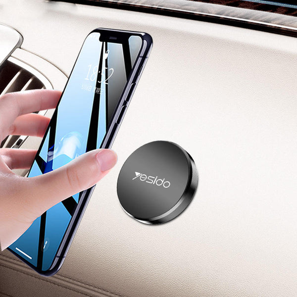 Yesido C38 Mini Round Plate Magnetic Dashboard Car Phone Holder Car Mount For 4.0-7.0 Inch Smart Phone for iPhone 11 Pro Max for Samsung S20 Ultra Xiaomi Mi9