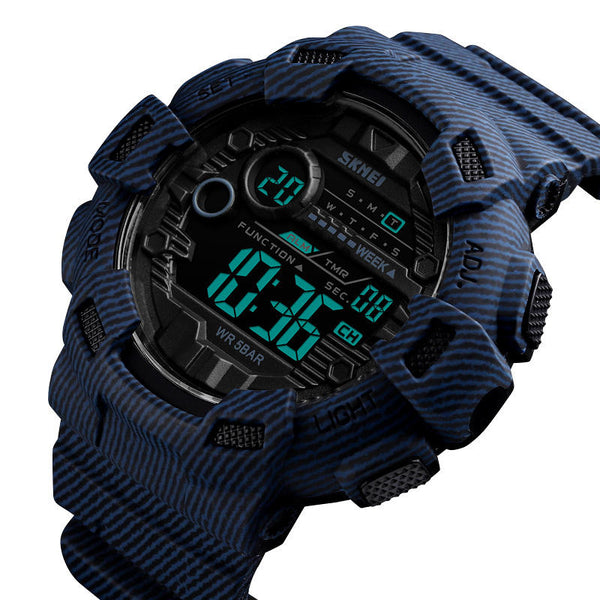 SKMEI 1472 Week Display Alarm Cowboy Waterproof Sports Digital Watch Men Watch