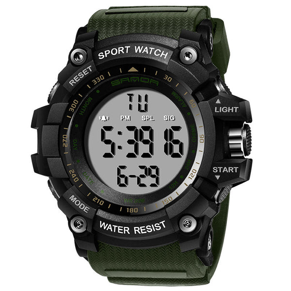 SANDA 359 Digital Watch Military Multifunction Stoptwatch Waterproof Student Men Watch