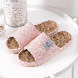 Women Comfy Open Toe Solid Color Home Slippers