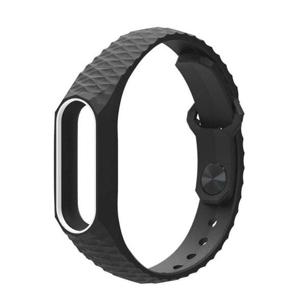 Mijobs Double Colorful Replacement Silicone Wrist Strap for XIAOMI Miband 2