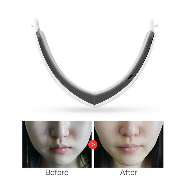 LED Photon Light Therapy V Face Massager Facial Lifting Slimming Double Chin Reducer Anti Aging Wrinkles Skin Care Beauty