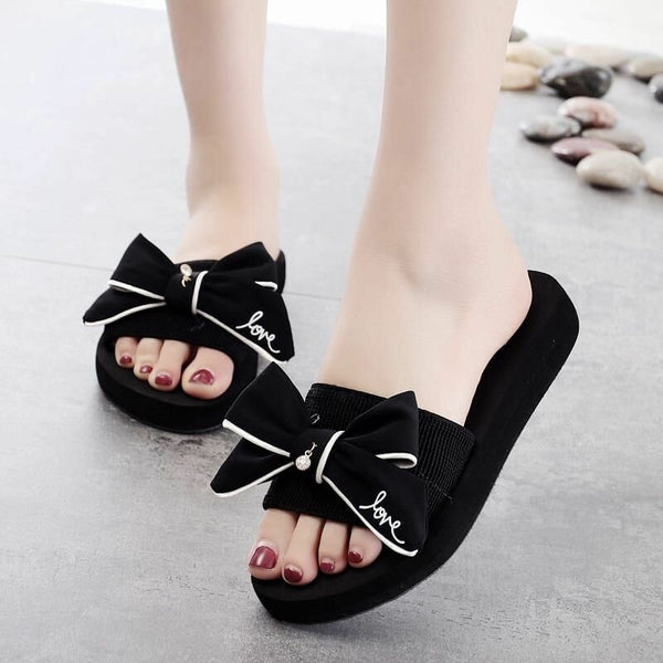 Women Bow-Knot Casual Summer Beach Slippers