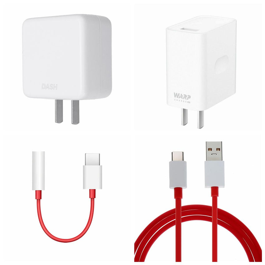 OnePlus 7/7t pro Warp Charger 30W Power Adapter Charge Type-C Flat Data Cable