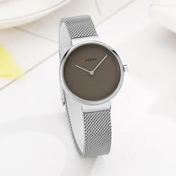 CURREN 9016 Women Quartz Watch Casual Style Simple Dial Luxury Alloy Strap Lady Wristwatch