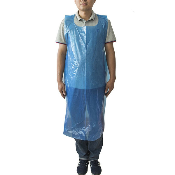 100PCS Disposable Pe Plastic Apron Transparent Thicken Apron Cooking Sewage Oil-proof Kitchen Pot Sleeveless Aprons