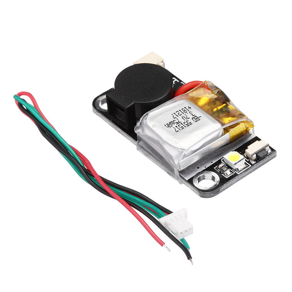 URUAV UR6 5V 110dB BB Alarm Buzzer Mini Tacker 36x18mm with Lipo Battery LED Light for RC Drone FPV Racing